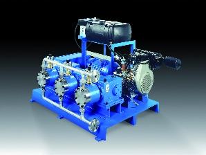 sera zuiger-membraan pomp RKB 412 KM met dieselmotor