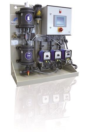 chloor dioxide aanmaak en doseerinstallatie